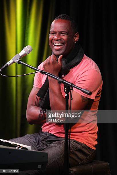 Brian McKnight performs at WDAS iHeartRadio Performance Theater February 13 2013 in Bala Cynwyd Pennsylvania