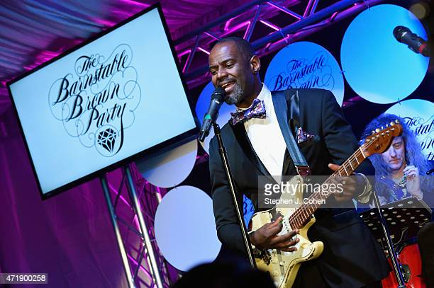 Brian McKnight performs during the Barnstable Brown Kentucky Derby Eve Gala at Barnstable Brown House on May 1 2015 in Louisville Kentucky
