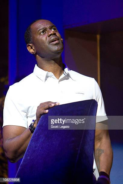 Brian McKnight performs during the Cheaper to Keep Her National Tour at Music Hall Center on October 12 2010 in Detroit Michigan