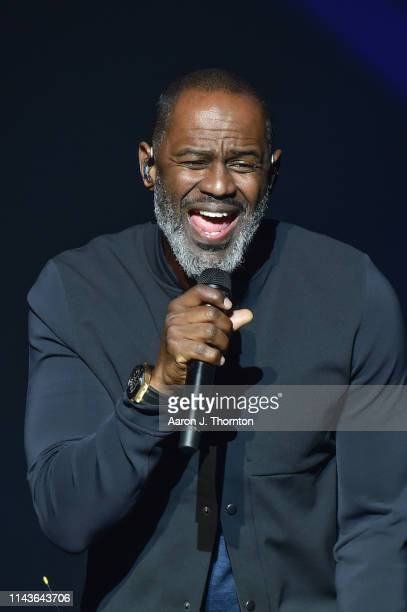 Brian McKnight performs on stage at The Motor City Soundboard Motor City Casino on April 18 2019 in Detroit Michigan