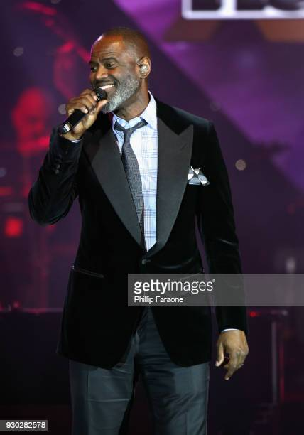 Brian McKnight performs onstage at Celebrity Fight Night XXIV on March 10 2018 in Phoenix Arizona