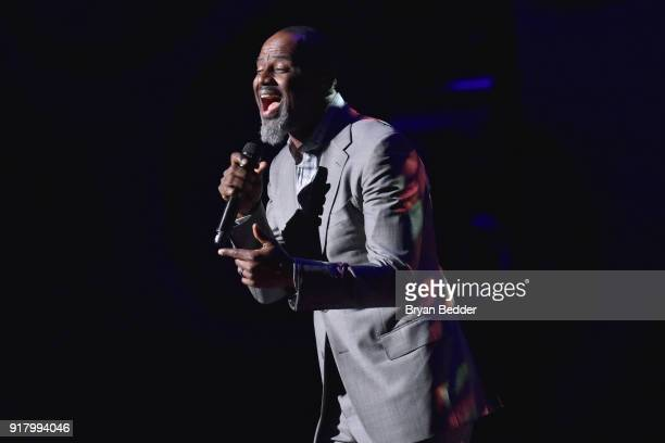 Brian McKnight performs onstage the Winter Gala at Lincoln Center at Alice Tully Hall on February 13 2018 in New York City