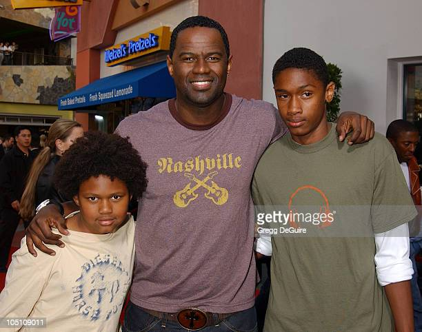 Brian McKnight Sons Niko Brian during The World Premiere of Bruce Almighty at Universal Amphitheatre in Universal City California United States