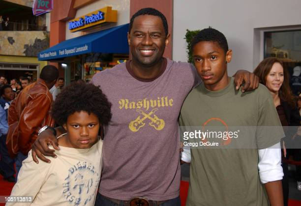 Brian McKnight Sons Niko Brian during The World Premiere of 'Bruce Almighty' at Universal Amphitheatre in Universal City California United States