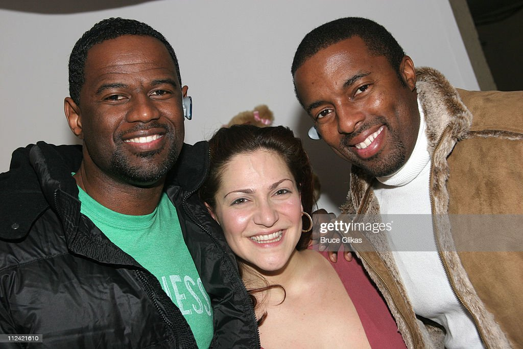 Brian McKnight with Shoshana Bean, star of 'Wicked' and manager Silas White
