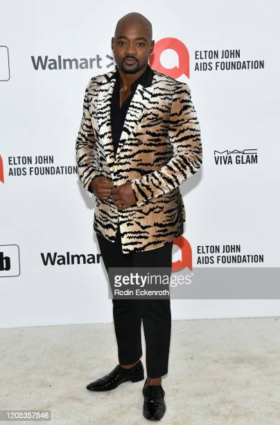 Brian Michael attends the 28th Annual Elton John AIDS Foundation Academy Awards Viewing Party Sponsored By IMDb And Neuro Drinks on February 09, 2020...