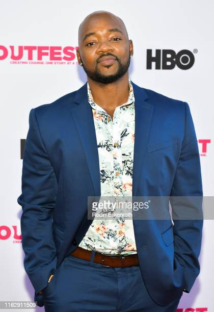 Brian Michael attends the Outfest Los Angeles LGBTQ Film Festival Opening Night Gala premiere of Circus Of Books at Orpheum Theatre on July 18 2019...