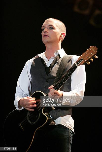 Brian Molko Of Placebo during 2006 Incheon Pentaport Rock Festival Day 2 at Song Do Dae Woo Motors Field in Incheon South South Korea