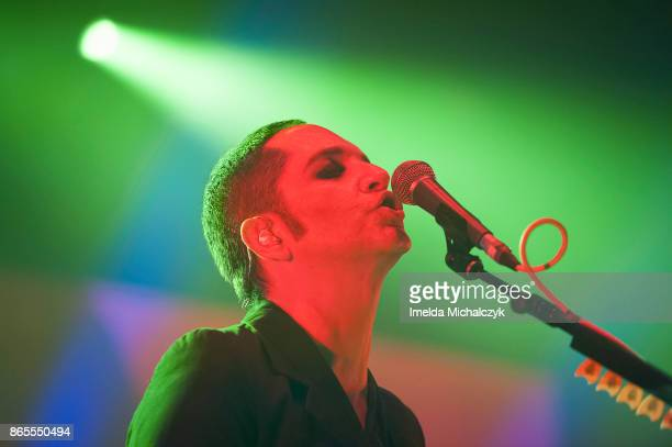 Brian Molko of Placebo performs live on stage at O2 Academy Brixton on October 23 2017 in London England