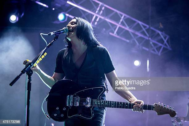 Brian Molko of Placebo performs on stage at 'Palacio de Vistalegre' on May 29 2015 in Madrid Spain