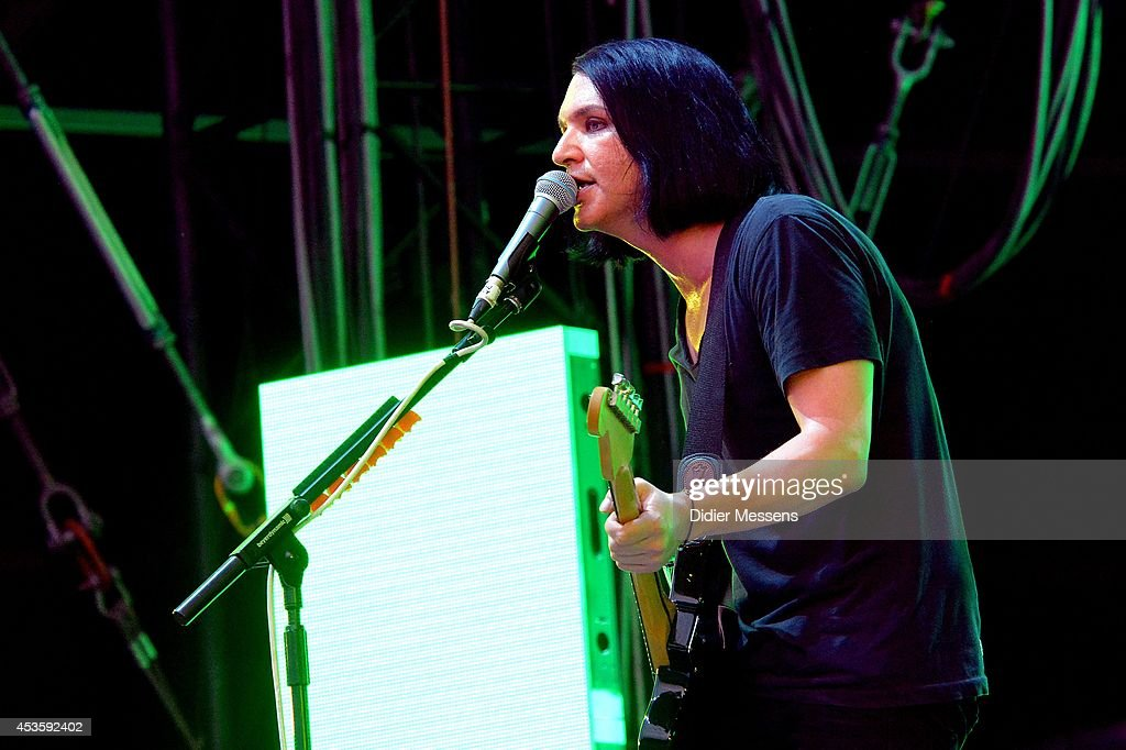 Brian Molko of Placebo performs on stage at Sziget Festival on August 13, 2014 in Budapest, Hungary.