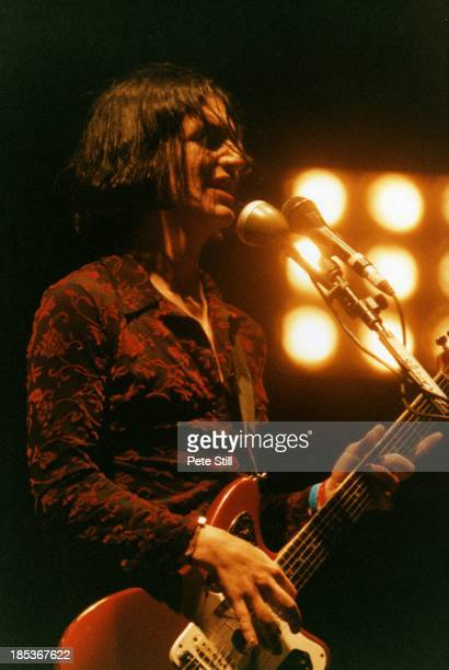 Brian Molko of Placebo performs on stage at The Glastonbury Festival on June 26th, 1998 in Glastonbury, Somerset, England.