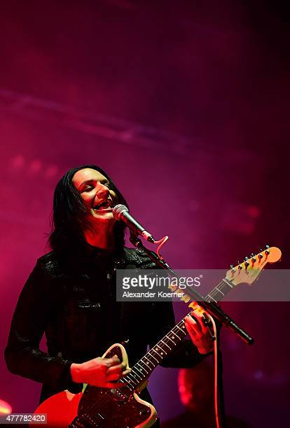 Brian Molko singer of Placebo performs on Green Stage at the Hurricane Festival 2015 on June 19 2015 in Scheessel Germany More than 70 bands are...