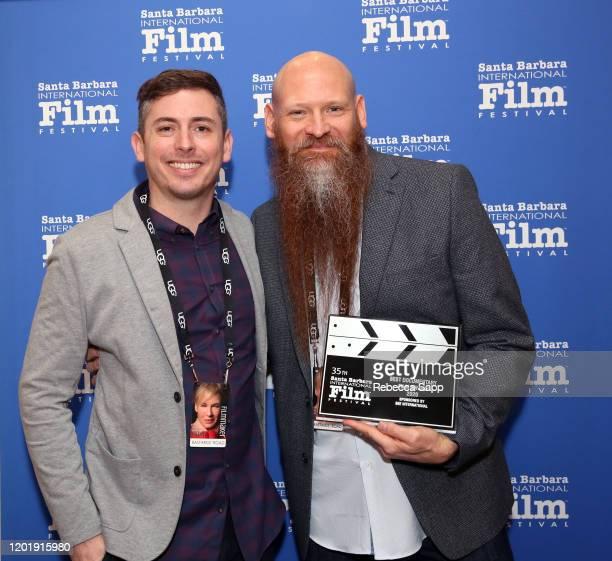 Brian Morrison and Mark Stafford attend the Awards Breakfast during the 35th Santa Barbara International Film Festival at El Encanto on January 25...