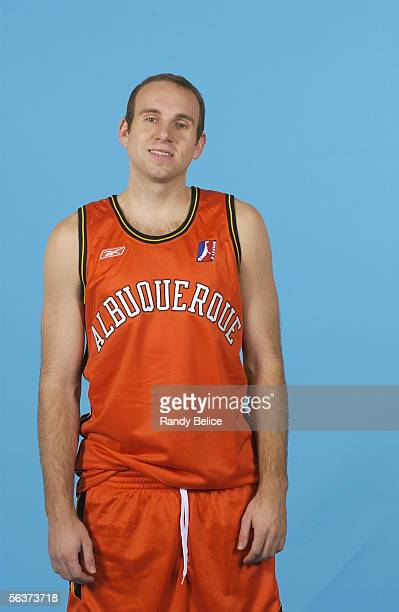 Brian Morrison of the Albuquerque Thunderbirds poses for a portrait during NBDL Media Day on November 8 2005 at Del Norte Sports Wellness in...