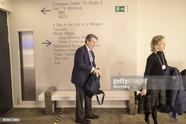 Brian Moynihan chief executive officer of Bank of America Corp arrives at the World Economic Forum in Davos Switzerland on Monday Jan 22 2018 World...