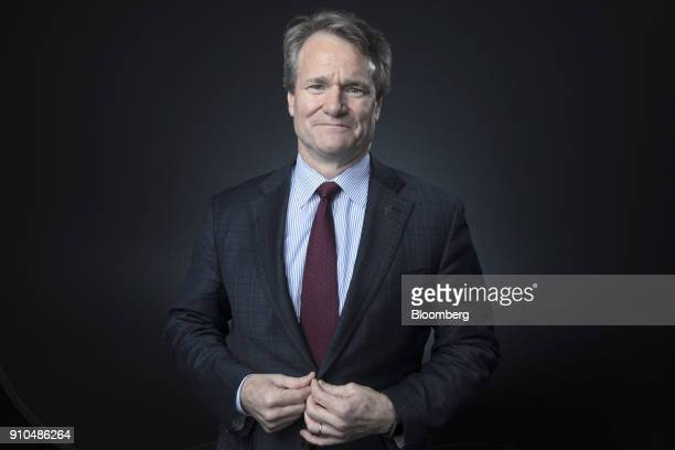 Brian Moynihan chief executive officer of Bank of America Corp poses for a photograph following a Bloomberg Television interview on the closing day...