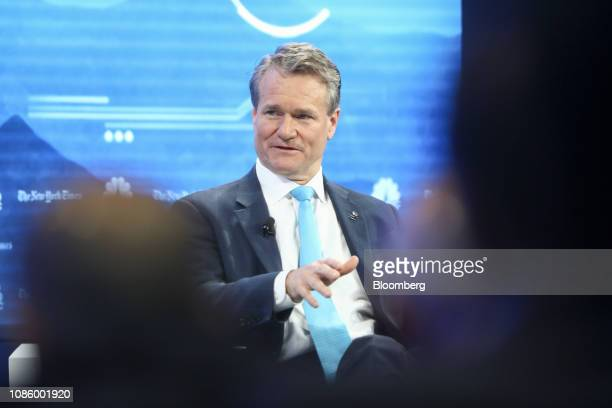 Brian Moynihan chief executive officer of Bank of America Corp speaks during a panel session on the opening day of the World Economic Forum in Davos...