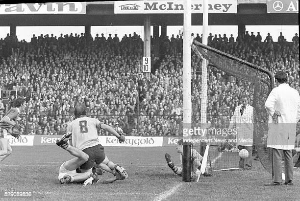 Brian Mullins scores a Dublin goal in the Dublin v Kerry All-Ireland football final at Croke Park, .