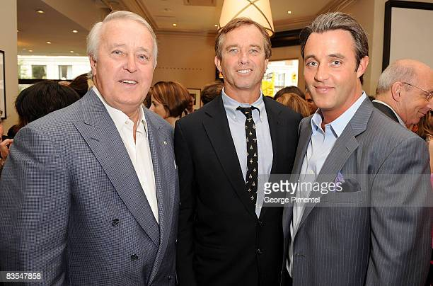 Brian Mulroney Robert Kennedy and Ben Mulroney attend the George Christie Party held at the Four Seasons Hotel during the 2008 Toronto International...