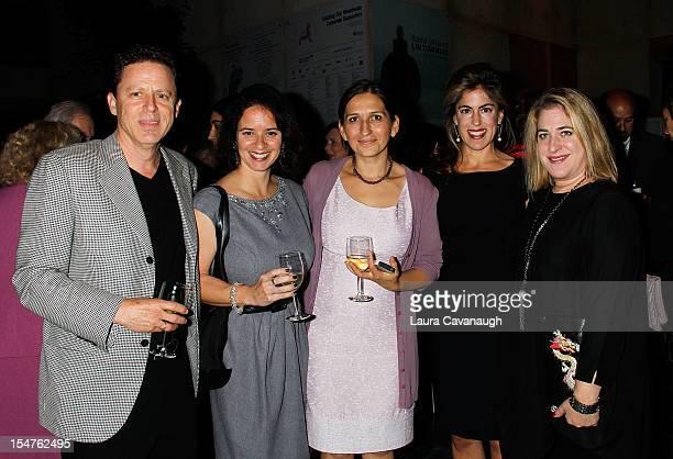Brian Muni Clara Sebesta Nina Levent Leslie Peirez and Susan Peirez attend Art Beyond Sight 25th Anniversary Gala at Asia Society on October 25 2012...