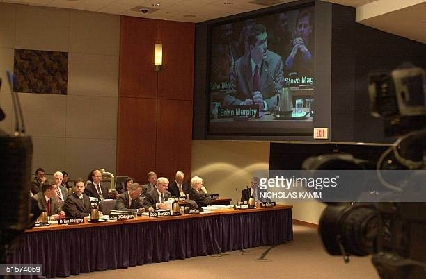Brian Murphy a National Transportation Safety Board investigator speaks to the board probing the crash of American Airlines flight 587 in New York in...