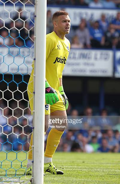 Brian Murphy of Portsmouth in action during the Sky Bet League Two Match between Portsmouth and Northampton Town at Fratton Park on May 7 2016 in...