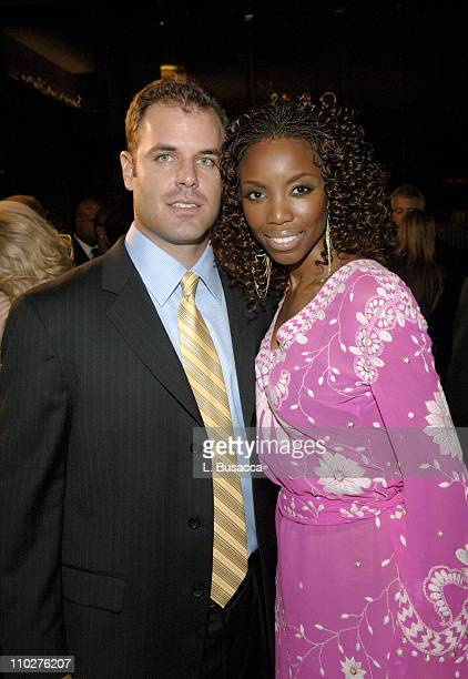 Brian Musso and Heather Headley during 2006 Clive Davis PreGRAMMY Awards Party Cocktail Reception and Dinner at Beverly Hilton in Beverly Hills...