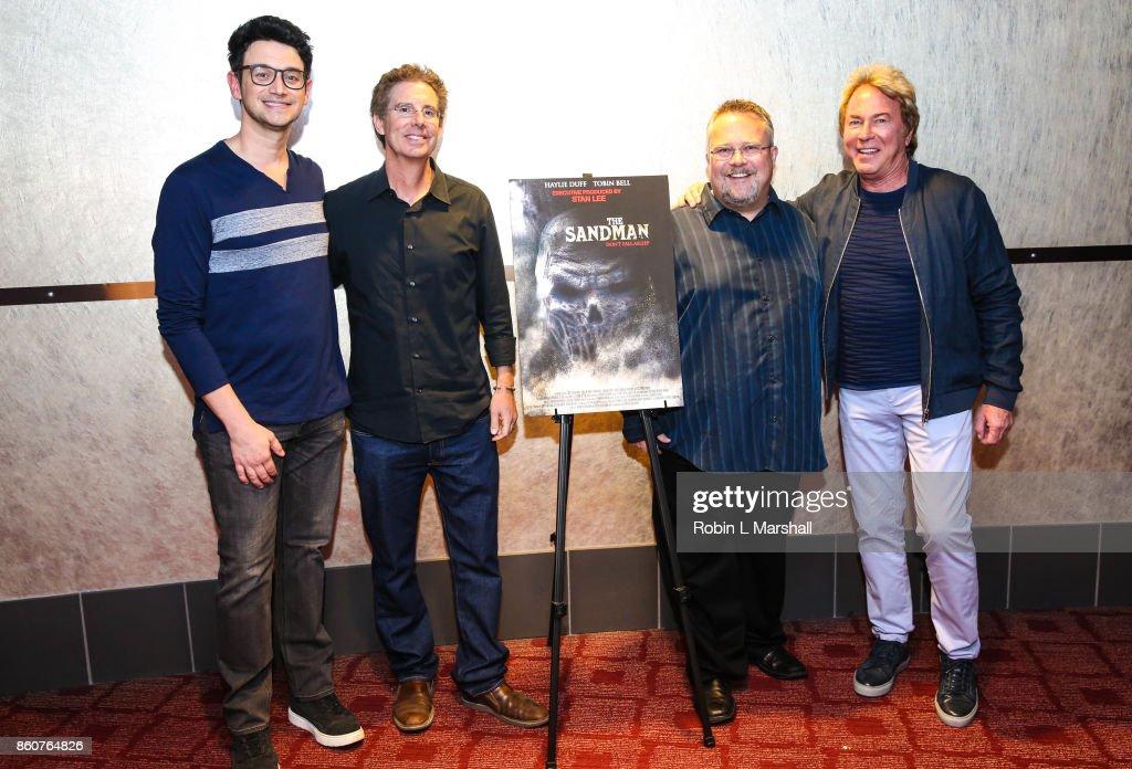 Brian Nolan, Jeff Schenck, Peter Sullivan and Barry Barnholtz attend the premiere of SyFy's 'The Sandman' movie screening at ArcLight Sherman Oaks on October 12, 2017 in Sherman Oaks, California.