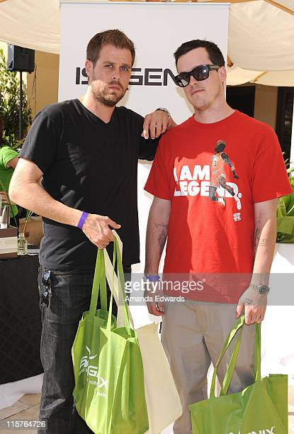 Brian O' Connell and Marshall Barnes attends the Kari Feinstein MTV Movie Awards Style Lounge held at Montage Beverly Hills on June 4 2010 in Beverly...