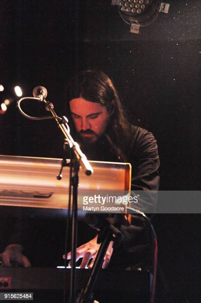 Brian Oblivion of Cults performs at Musik Frieden Falckensteinstrasse on January 30 2018 in Berlin Germany