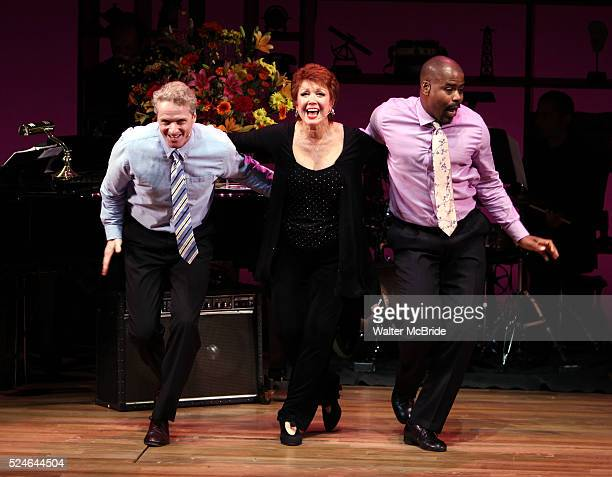 "Brian O'Brien, Donna McKechnie, Bernard Dotson performing at the ""Nothing Like A Dame: A Party For Comden And Green"" at the Laura Pels Theatre in New..."