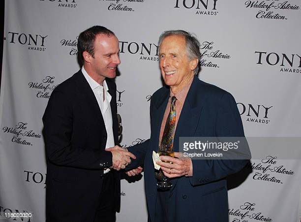 Brian O'Byrne and Fritz Weaver during 60th Annual Tony Awards Cocktail Celebration at The Waldorf Astoria in New York City New York United States