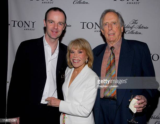 Brian O'Byrne Sondra Gilman and Fritz Weaver during 60th Annual Tony Awards Cocktail Celebration at The Waldorf Astoria in New York City New York...