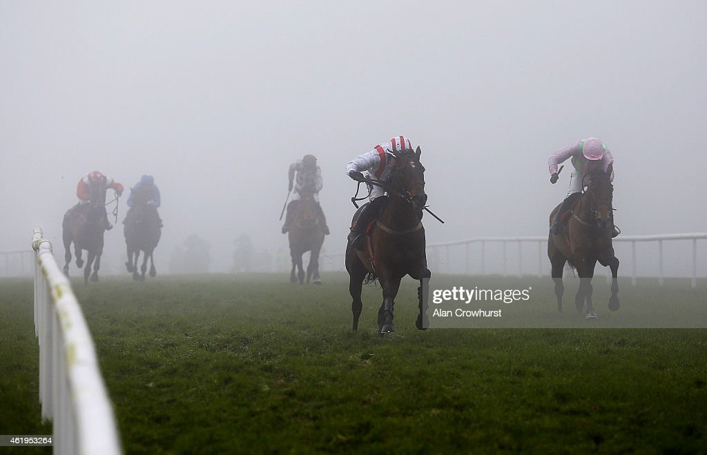 Brian O'Connell riding Cliff House (C) win The Langton House Hotel Maiden Hurdle at Gowran Park racecourse on January 22, 2015 in Kilkenny, Ireland.