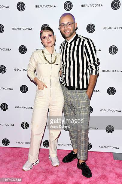 Brian O'Conner and Hayley Williams attend Beautycon Festival Los Angeles 2019 at Los Angeles Convention Center on August 11, 2019 in Los Angeles,...
