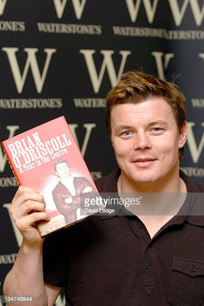 Brian O'Driscoll during Brian O'Driscoll Signs His Book 'A Year in the Centre' at Waterstone's in London October 31 2005 at Waterstone's Leadenhall...