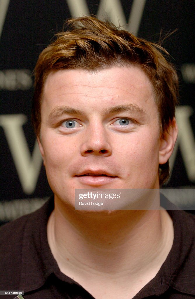 "Brian O'Driscoll Signs His Book ""A Year in the Centre"" at Waterstone's in"