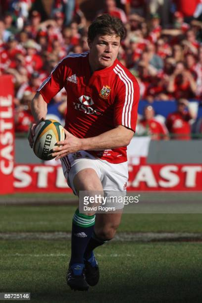 Brian O'Driscoll of the Lions in action during the Second Test match between South Africa and the British and Irish Lions at Loftus Versfeld on June...