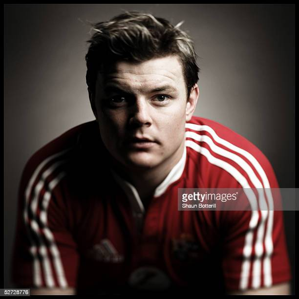 Brian O'Driscoll pictured during the British and Irish Lions Squad Photocall for the 2005 Tour to New Zealand on April 18 2005 in Cardiff Wales