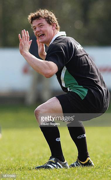 Brian O'Driscoll the Ireland Captain pictured during Irish Rugby Union training at Terenure Rugby Club Dublin Ireland on March 26 2003