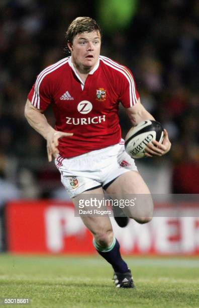 Brian O'Driscoll the Lions captain goes on a run during the match between the British and Irish Lions and the Bay of Plenty at The Rotorua...