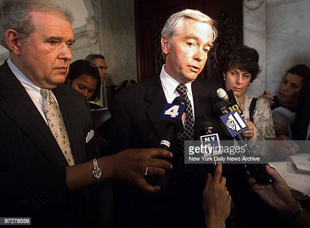 Brian O'Dwyer lawyer for the family of Etan Patz talks to reporters after a Surrogate Court judge declared dead the 6yearold SoHo boy who disappeared...