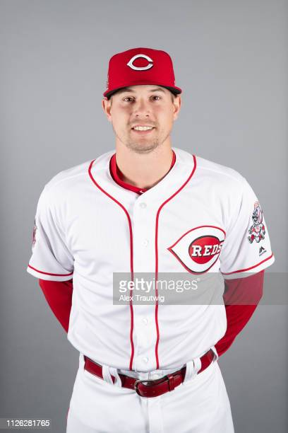 Brian O'Grady of the Cincinnati Reds poses during Photo Day on Tuesday February 19 2019 at Goodyear Ballpark in Goodyear Arizona