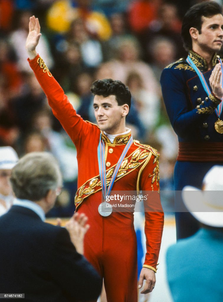 1988 Winter Olympics - Men's Figure Skating : News Photo