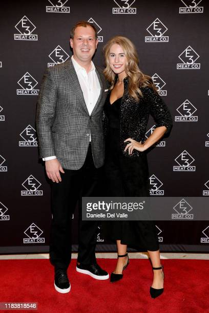 Brian Parker and JillianCardarelli attend the grand opening of E3 Chophouse Nashville on November 20 2019 in Nashville Tennessee