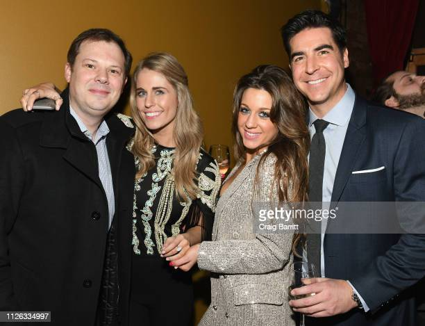 Brian Parker Jillian Cardarelli Emma DiGiovine and Jesse Watters attend the after party for Jillian Cardarelli's performance at Rockwood Music Hall...
