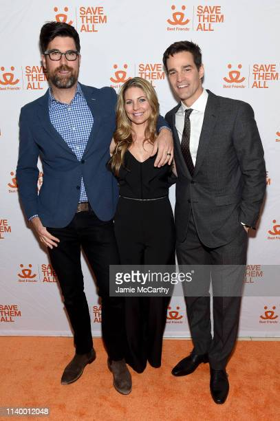 Brian Patrick Flynn Eryn Marciano and Rob Marciano attend Best Friends Animal Society's Benefit to Save Them All at Gustavino's on April 02 2019 in...