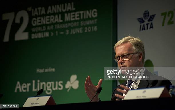 Brian Pearce, Chief Economist for the International Air Transport Association speaks during the International Air Transport Association's annual...