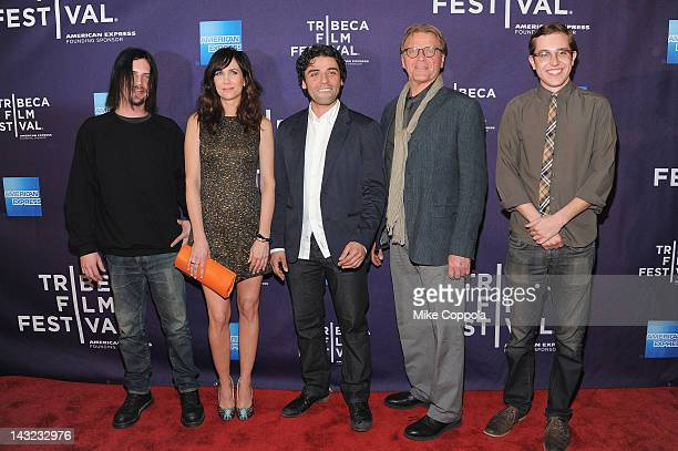 Brian Petsos Kristen Wiig Oscar Isaac David Rasche and Chadd Harbold attends the Revenge For Jolly Premiere during the 2012 Tribeca Film Festival at...